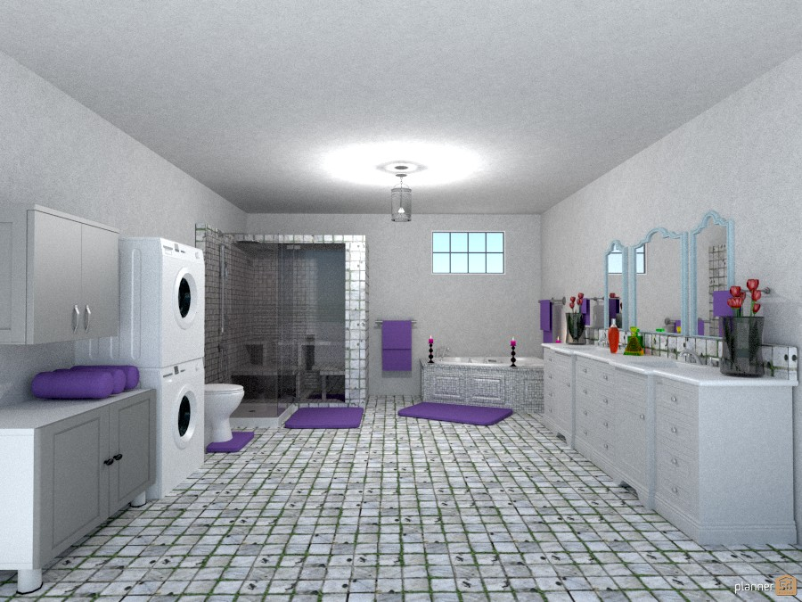 bathroom w/washer/dryer 897713 by Joy Suiter image