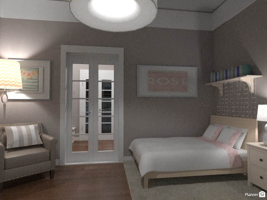 classic chic flat - girl room - Apartment ideas - Planner 5D