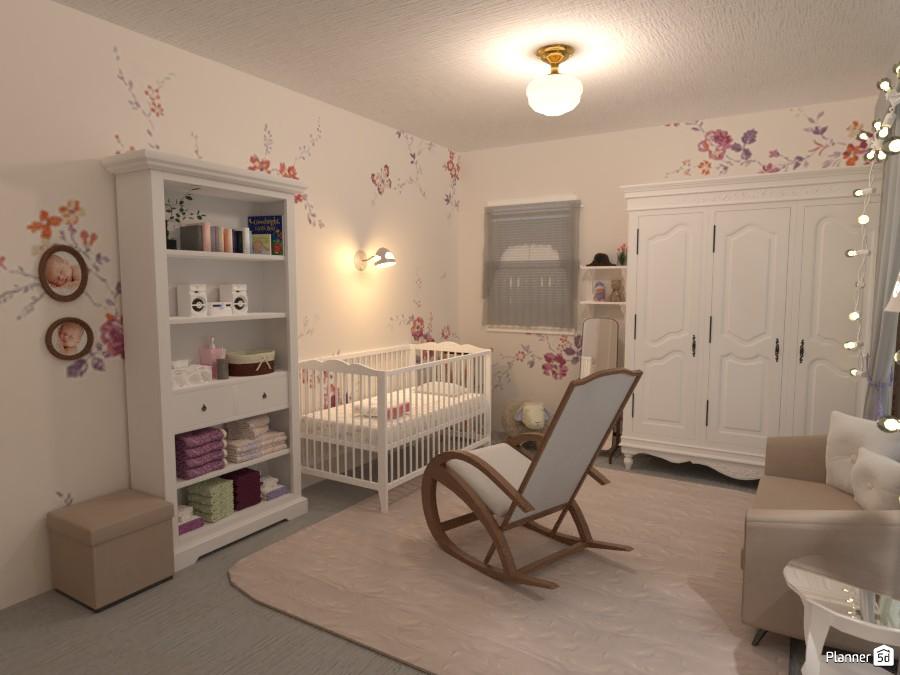 Newborn Baby Girls' Room 4287064 by yves image