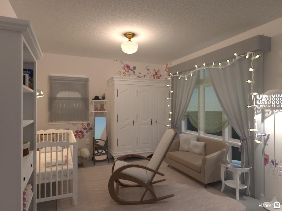 Newborn Baby Girls' Room 4287129 by yves image