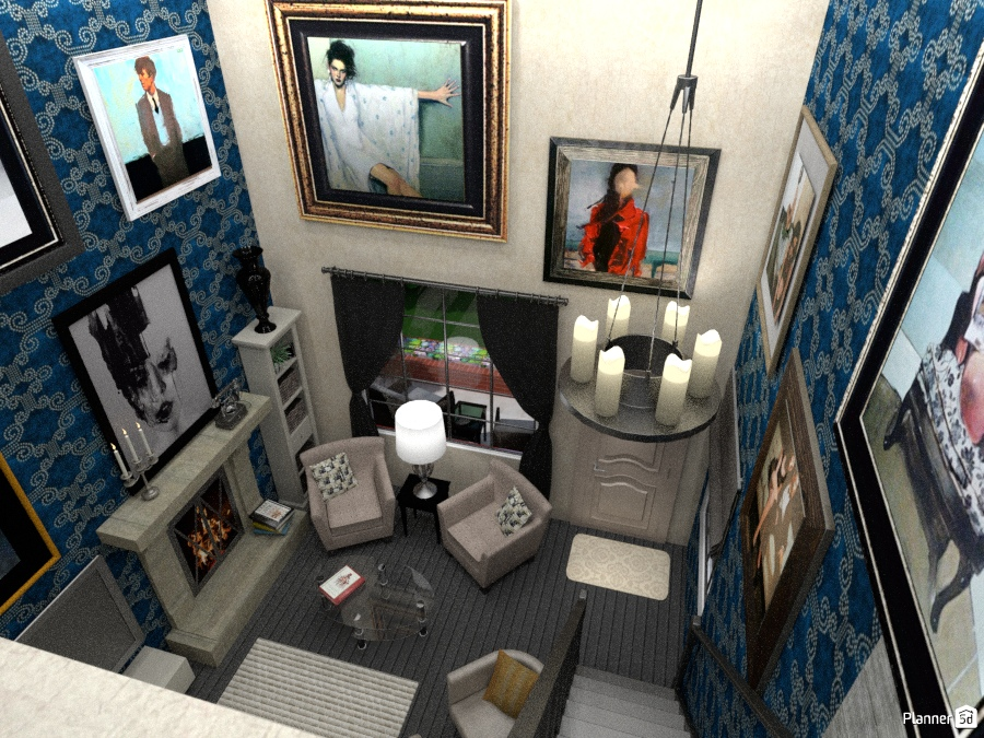 Tiny living room from loft 1497534 by Aldona image