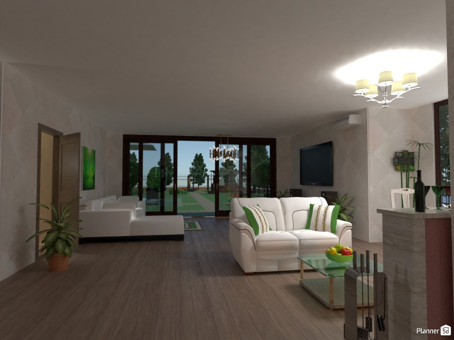 living room in a private house 2957324 by Alena Arkhipenko image