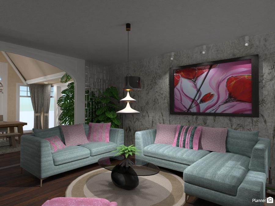 Living in open space idee per il soggiorno planner d