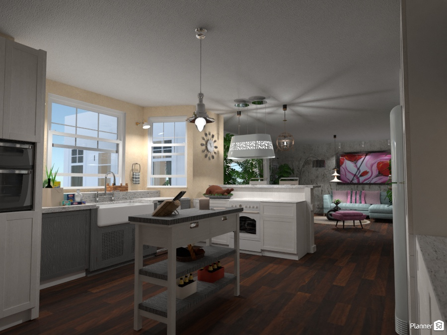 Kitchen in open space #2 kitchen ideas planner 5d