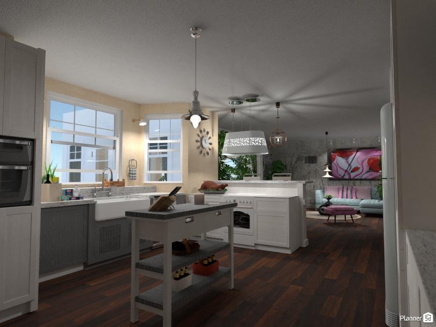 Kitchen in open space #2 - Idee per la cucina - Planner 5D