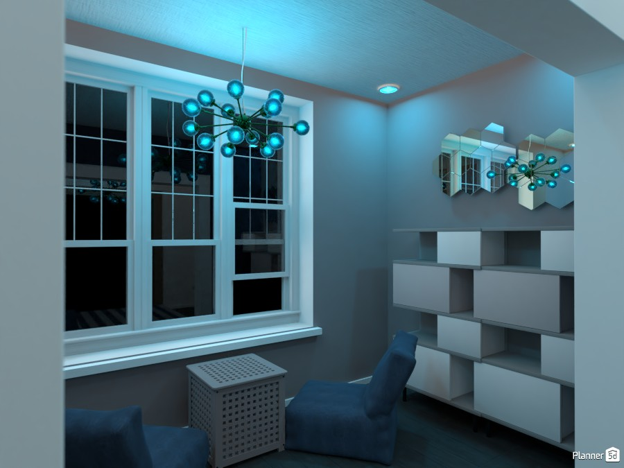 white/gray/blue two bedroom for brothers 82796 by Huzaifah Shaikh image