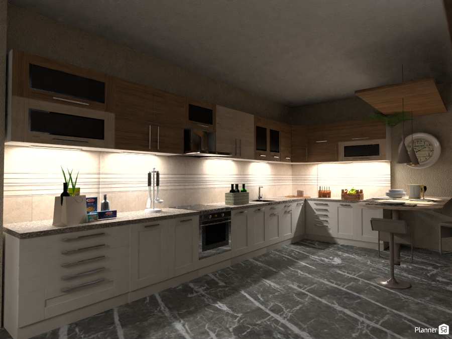 Renovation & Relocation: Kitchen - House ideas - Planner 5D
