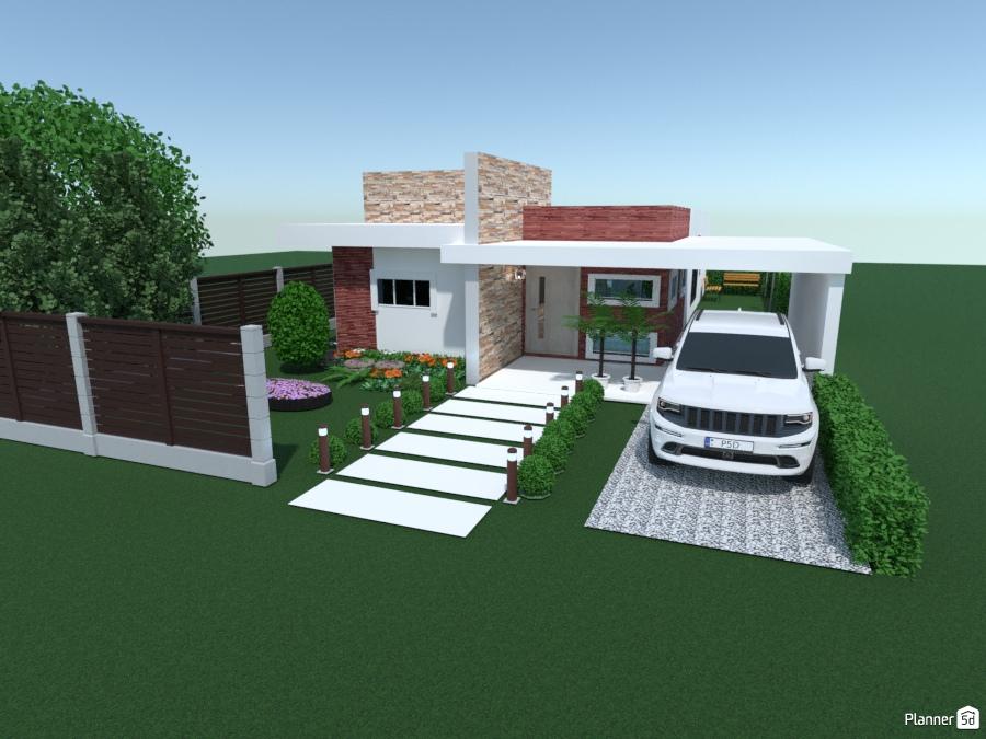 Casa moderna 2 ideias de casa planner 5d for Planner casa 3d