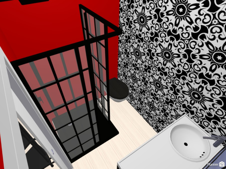Red and Monochrome Loft Apartment 83322 by Jesse image