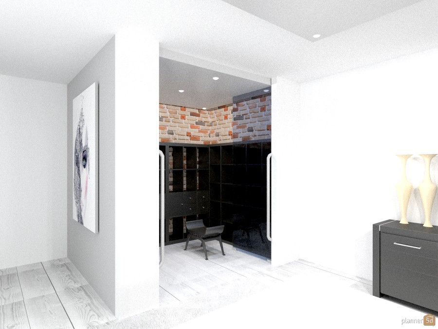 Place for cloths modern with urban finish 950985 by Yordan Radev image