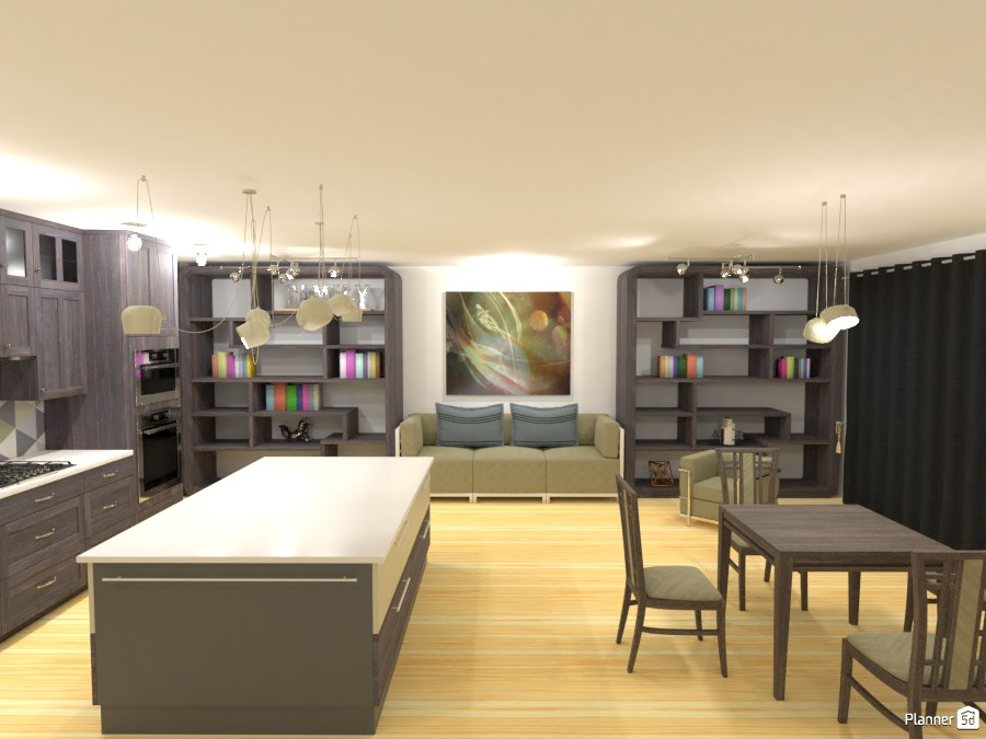 Living room / Dining / Kitchen 2969430 by ESK image