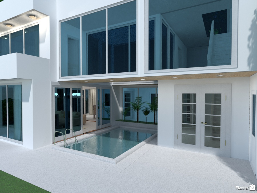 House with a pool in the middle 2602766 by Galina Pisemskaya image