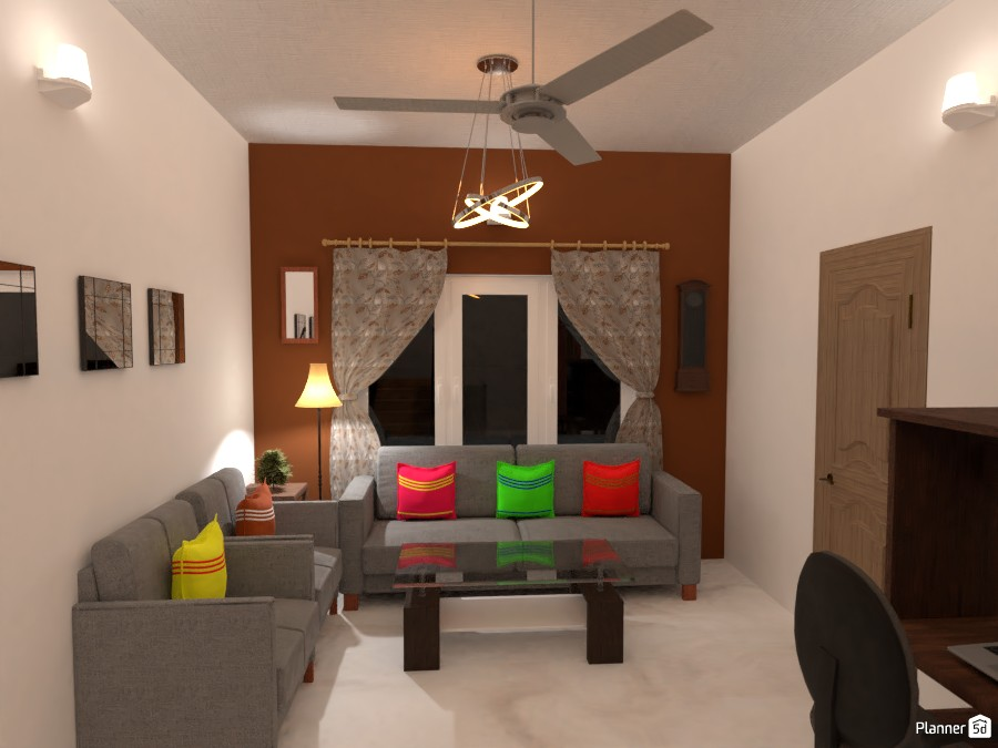 Living room with Brown highlight wall 3676610 by Born to be Wild image