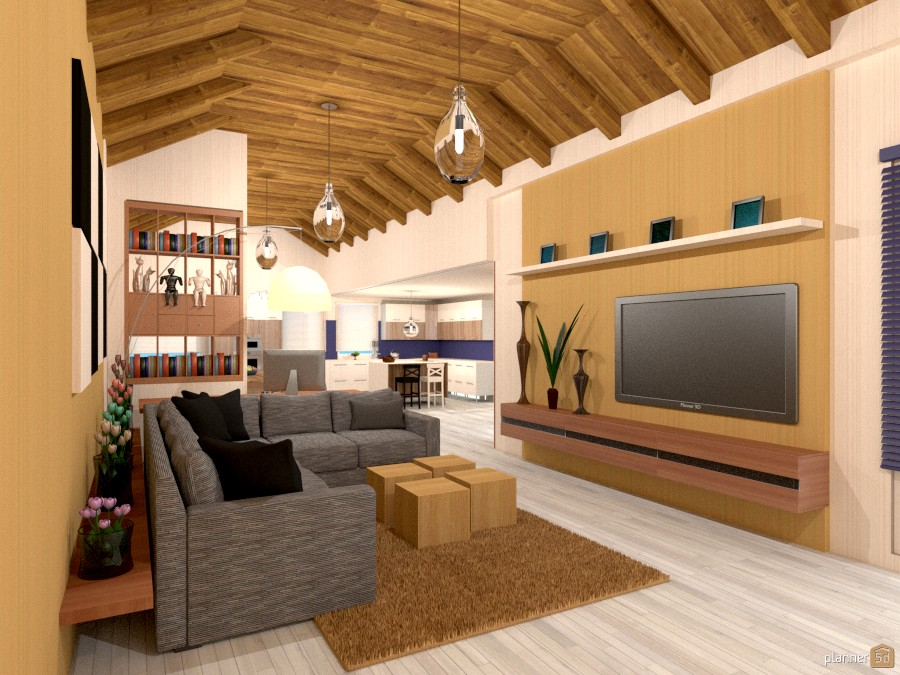 Salón y cocina. - Ideas de decoración - Planner 5D