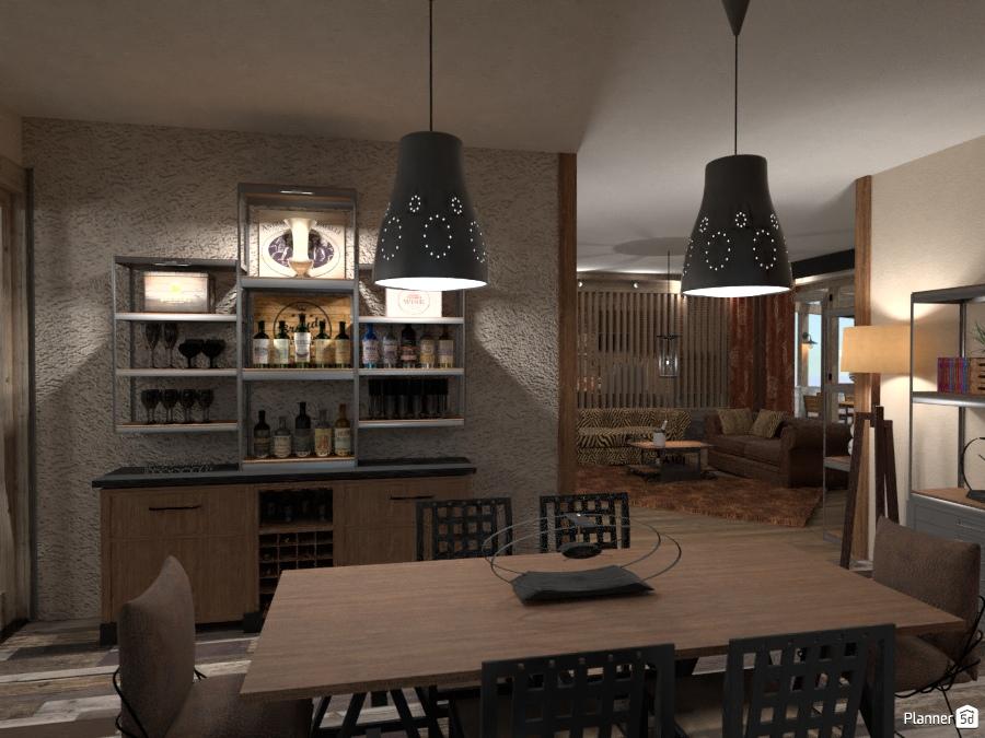 Industrial point dining one idee per appartamenti planner d