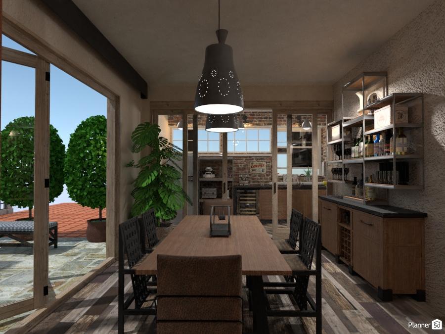 Illuminazione Industrial : Industrial point living kitchen idee per appartamenti