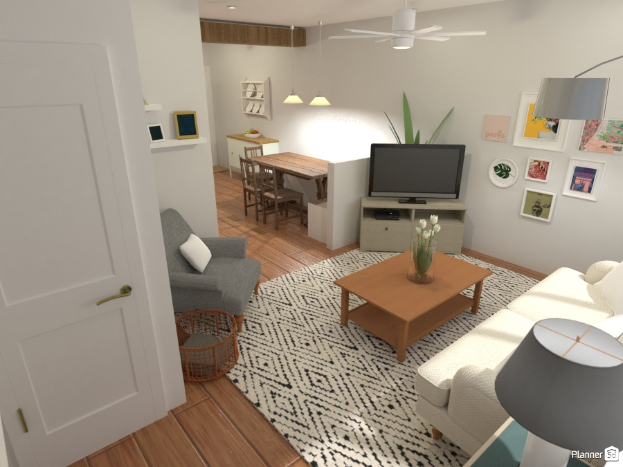 Cozy small apartment living room - Apartment ideas - Planner 5D