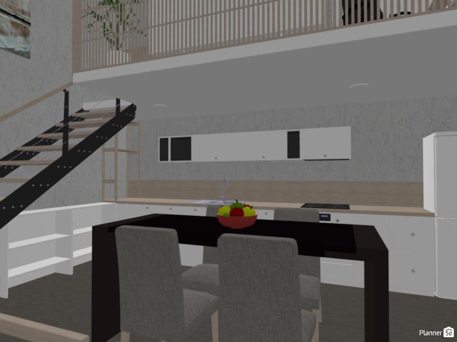 Loft de dos plantas con cocina, salón y despacho 82904 by Nuria image