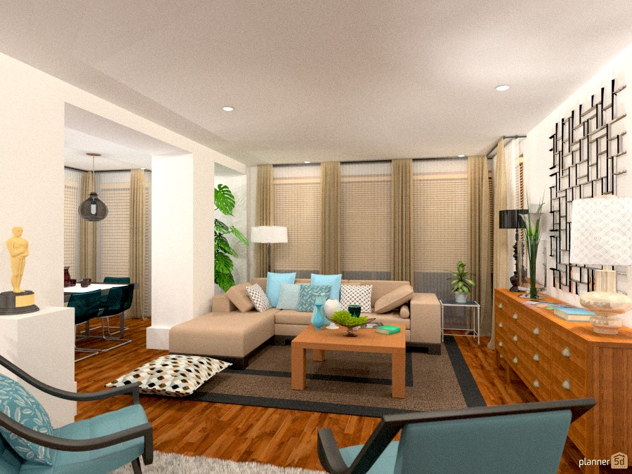 City apartment no 38 bright living room apartment for Room design 5d