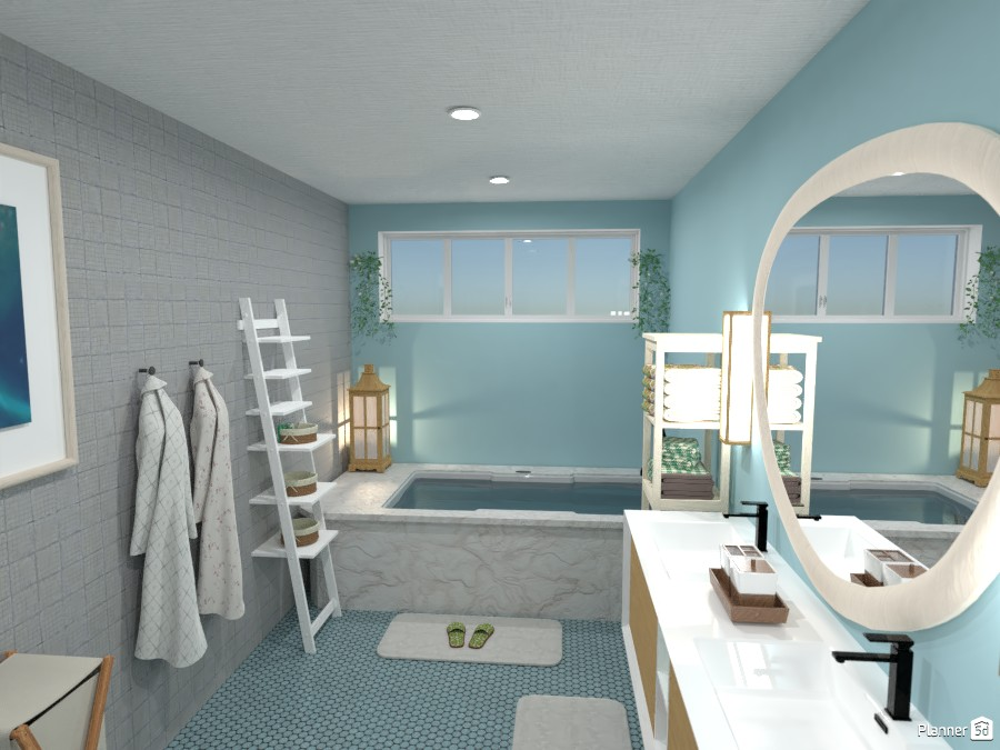 Pastel aqua bathroom 4056656 by Born to be Wild image