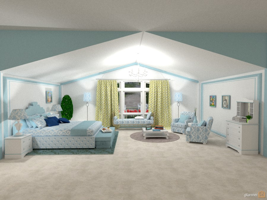 Bedroom Classic Blue. 764021 by Michelle Silva image