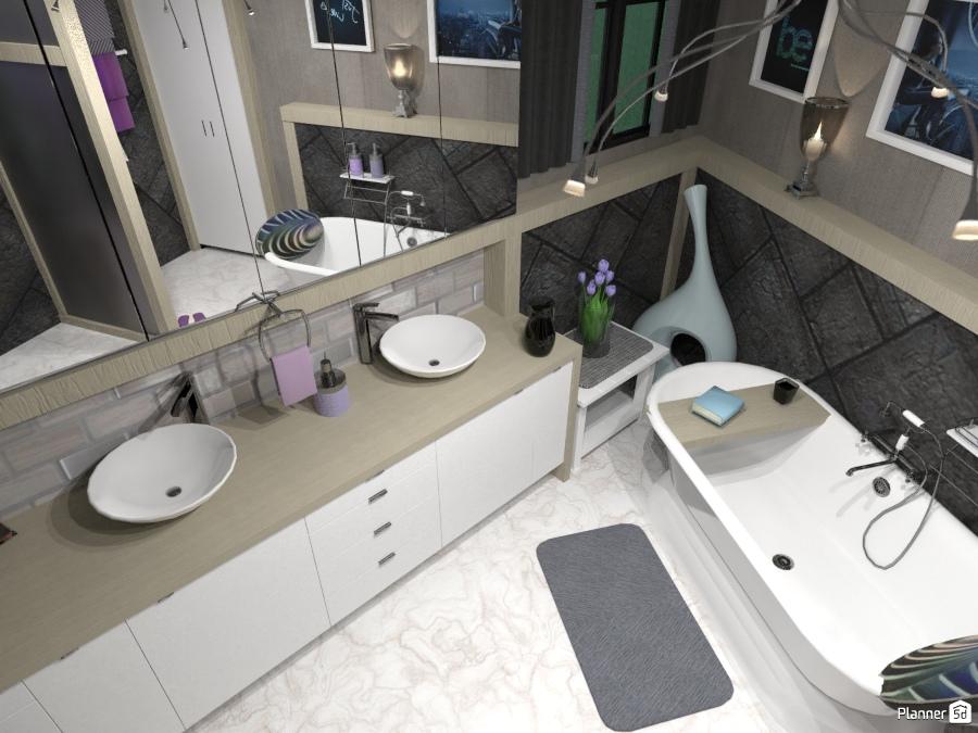 Master bedroom ensuite - Ideas para casas - Planner 5D