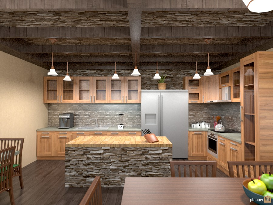 shale back splash kitchen 883671 by Joy Suiter image