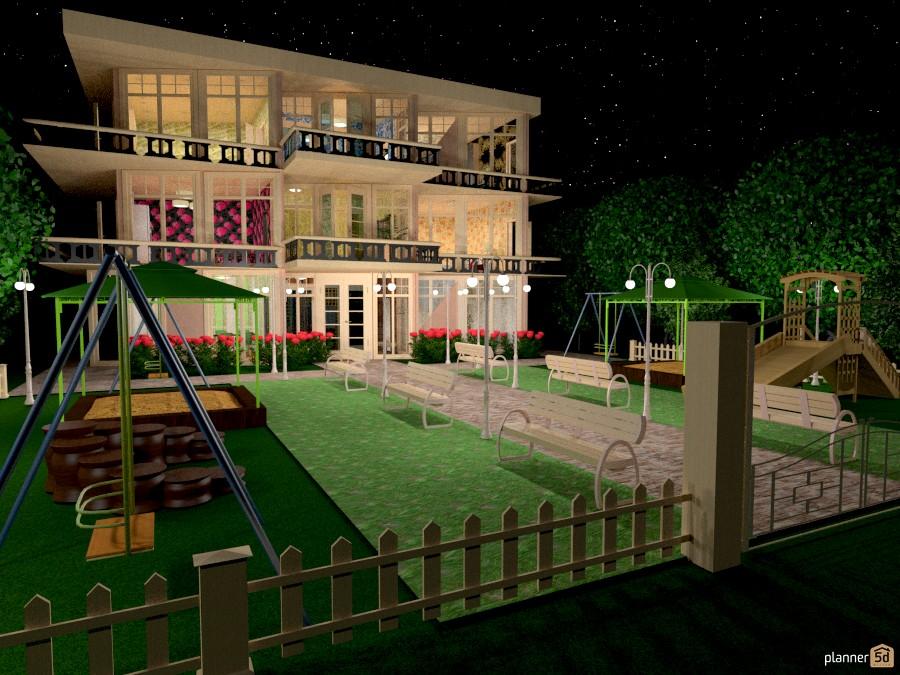 Трех-этажный дом с двориком 909434 by Татьяна image