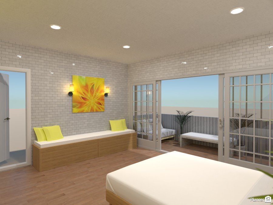 Yellow bedroom render #2 3778642 by Doggy image