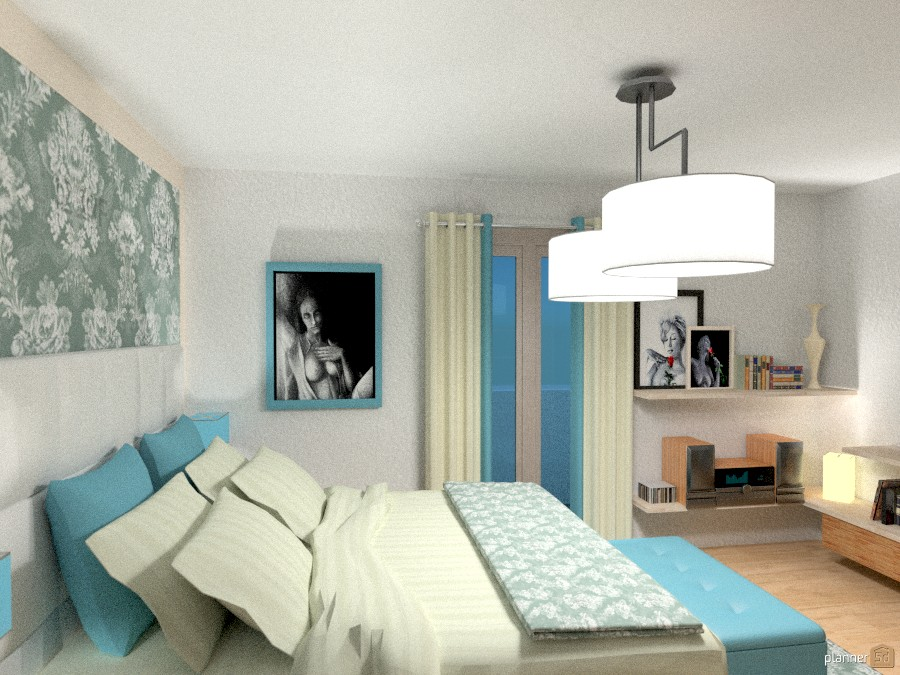 Villa Erika: Camera da letto II - House ideas - Planner 5D