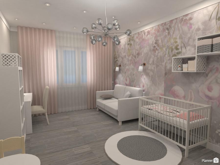 Детская в серо-розовой гамме 2843768 by Ksenia image