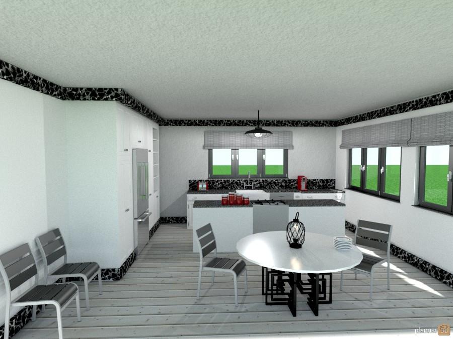 blk/wht n gray kitchen 1152148 by Joy Suiter image