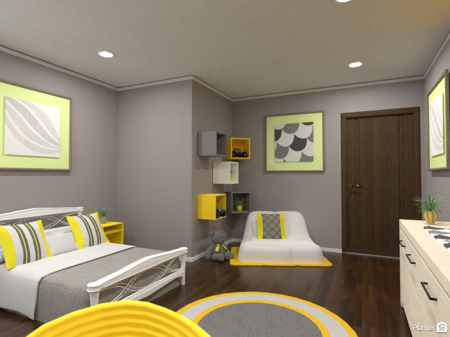 Gray and yellow interior 84099 by Gabes image