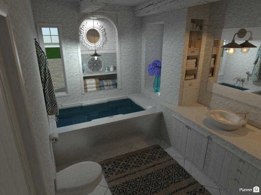 Masseria in Puglia: Bagno #2 - House ideas - Planner 5D