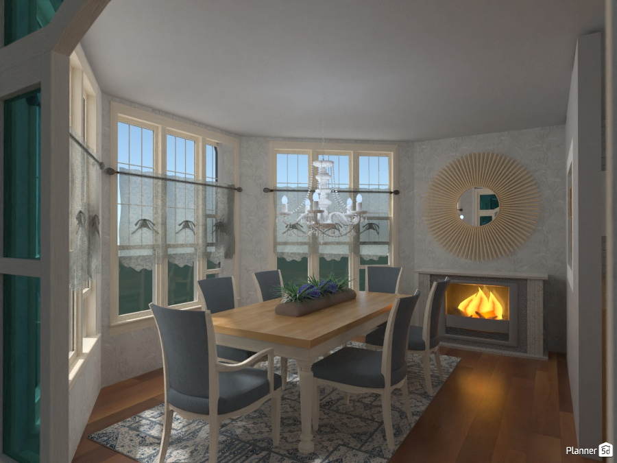 Sala da Pranzo Elegante - Living room ideas - Planner 5D