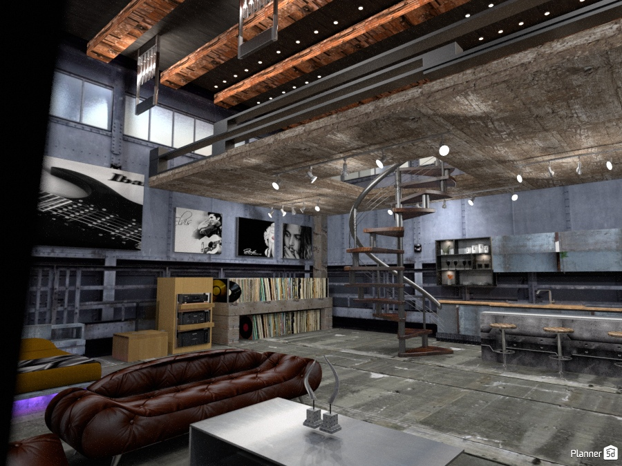 hard loft - Apartment ideas - Planner 5D