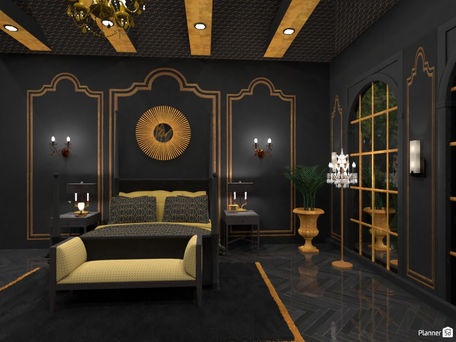 Dramatic Bedroom 3457027 by DesignKing image