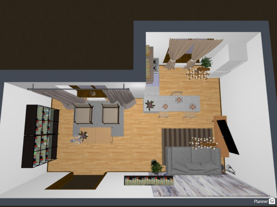 kitchen and living room 83286 by Viola image