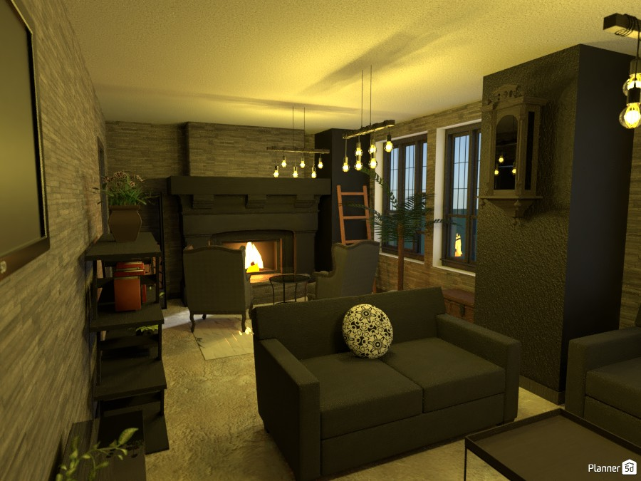 Living room with fireplace 3496659 by Megan image