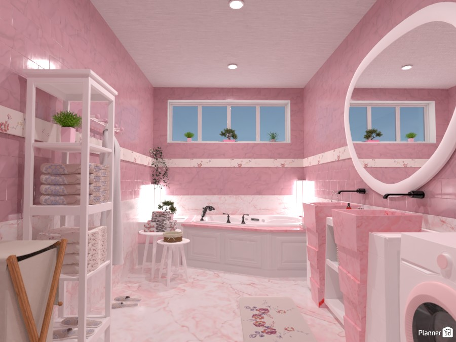 Pastel bathroom: