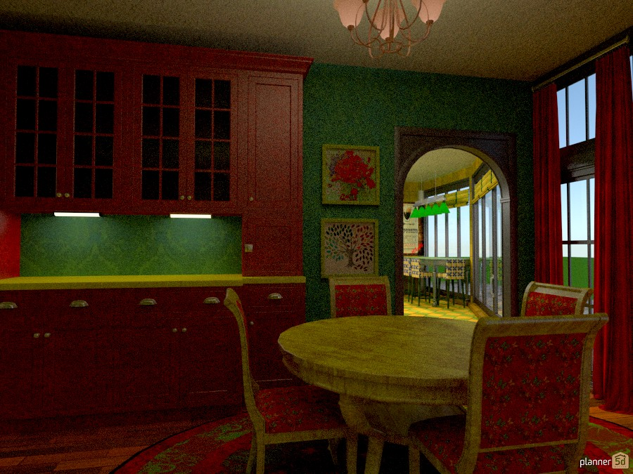 Red Dining Room 767689 by Cynthia Patillo image