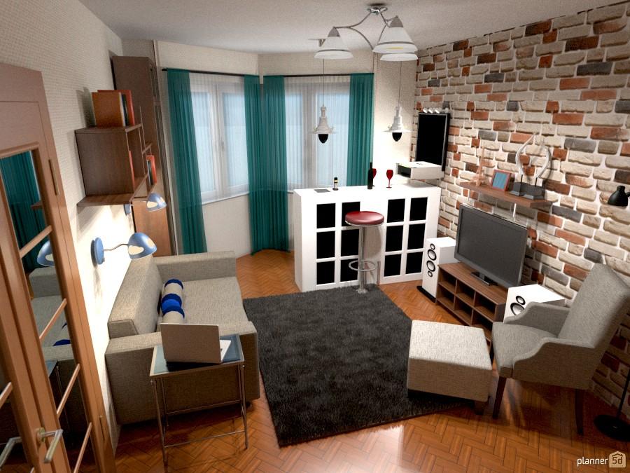Гостиная в доме 1-528 696519 by Светлана image