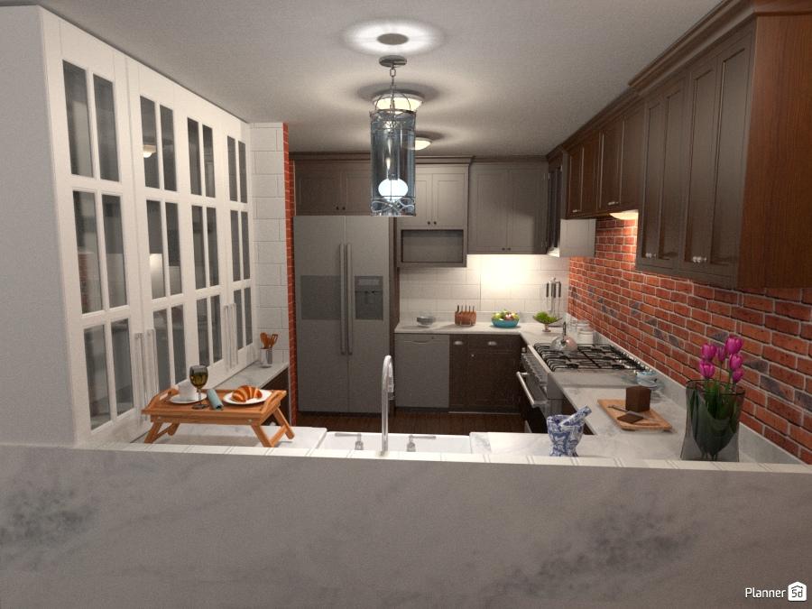Industrial-Chic Apartment Kitchen - Apartment ideas - Planner 5D