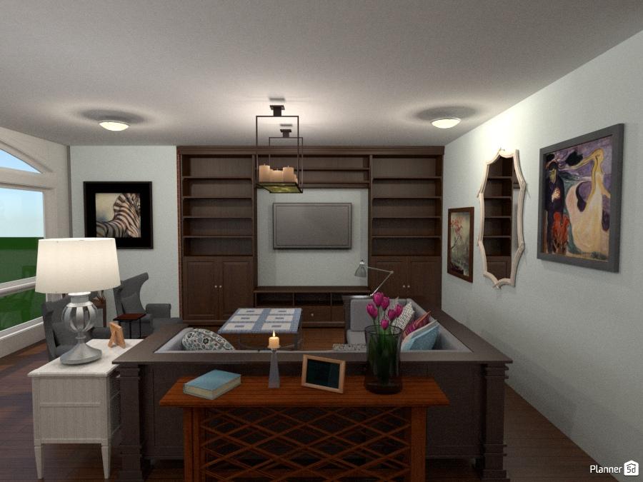 Industrial-Chic Apartment Living Room - Apartment ideas - Planner 5D
