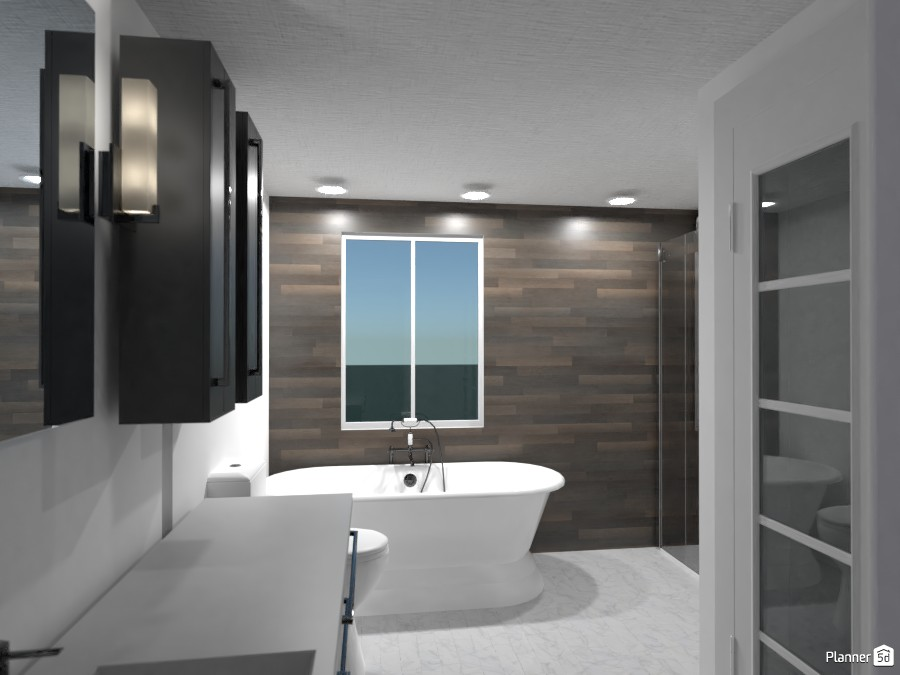 Small, cheap, modern bathroom 3544923 by Anonymous image