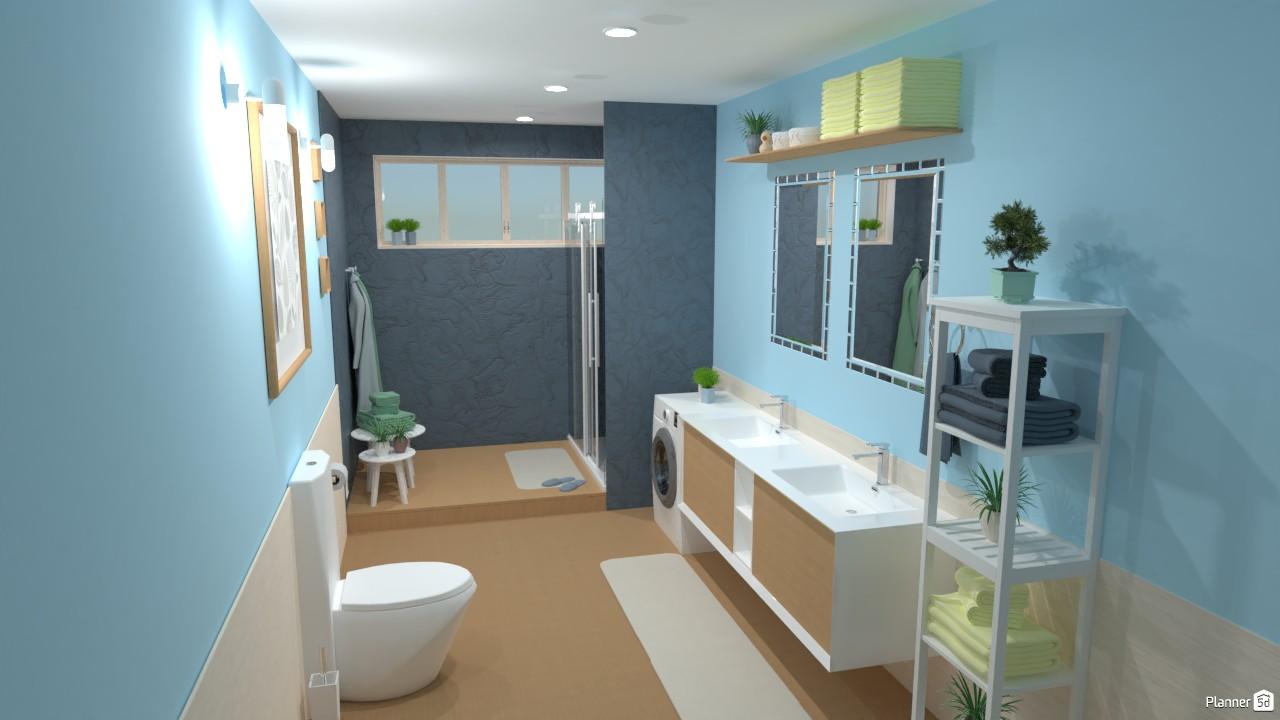 Baño en colores pastel. 4056225 by Hall Pat image