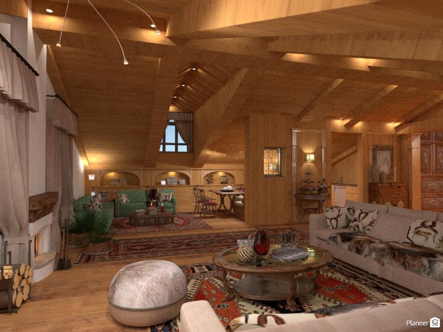 Cortina / living / 2 - Idee per appartamenti - Planner 5D