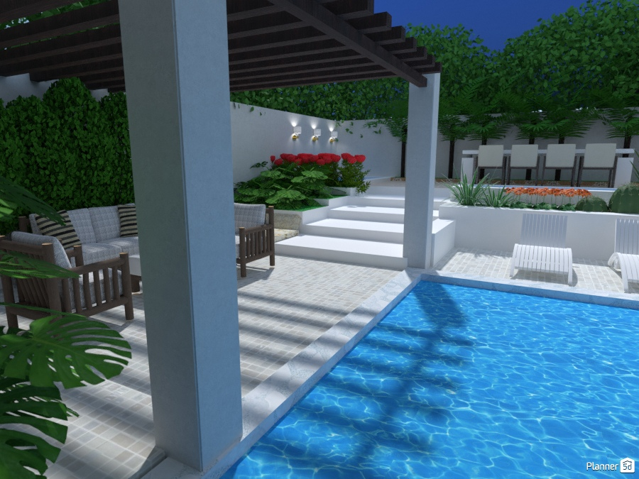 Terraza Tropical Ideas Para Terrazas Planner 5d