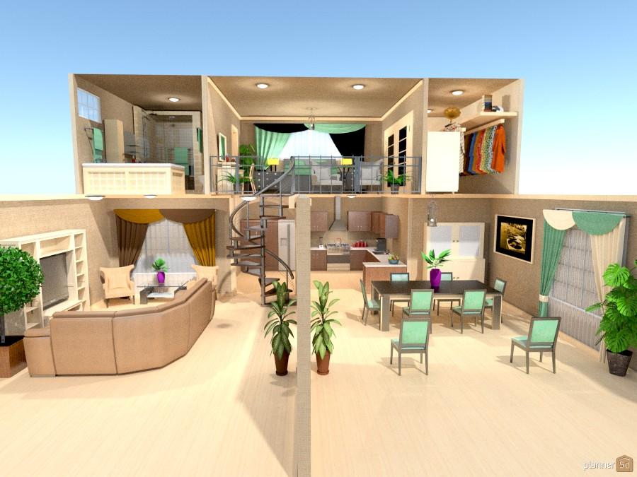 open floor plan w/loft 895429 by Joy Suiter image