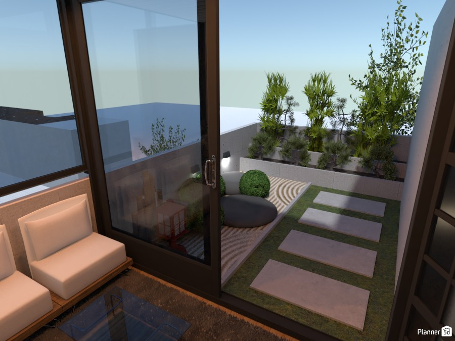 Japanese lounge and garden 4057351 by derick le roux image